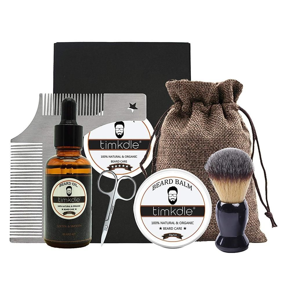 Beard Timming Products with Bag Beard Oil and Balm Styling
