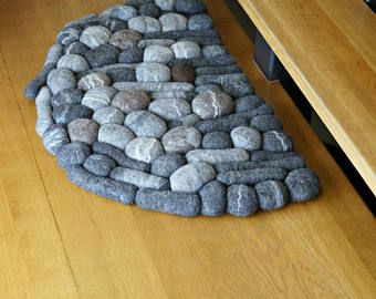 felt stone rug wool super soft with soft core pinterest teppich. Black Bedroom Furniture Sets. Home Design Ideas