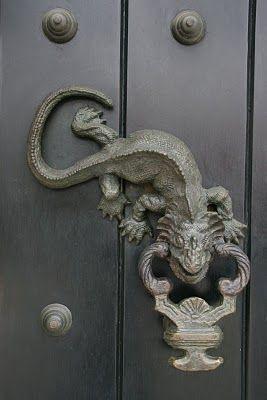 door detail ... lizard knocker | doors & windows | Pinterest ...