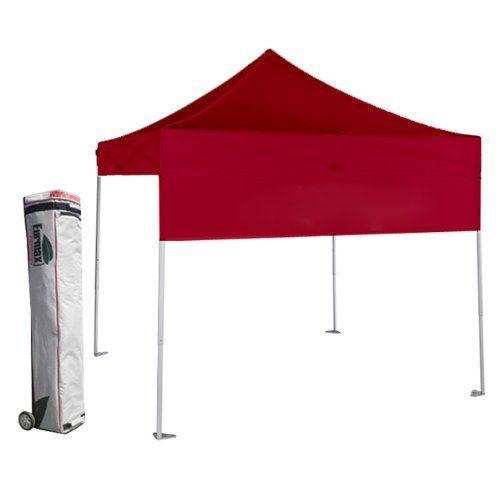 Eurmax Basic Ez Pop Up Canopy With Wheeled Bag 10x10ft Red By Eurmax 199 95 Canopy T Canopy Frame Canopy Garden Canopy