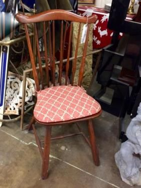 Small Wood Chair With Pad On Sale Was $98 Sale Price $36 Trade Bella  Vintage Dealer
