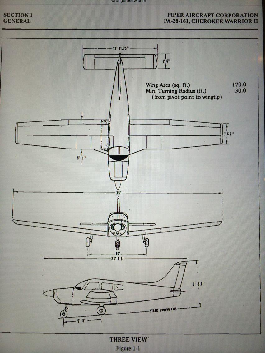hight resolution of piper warrior aircraft tattoo