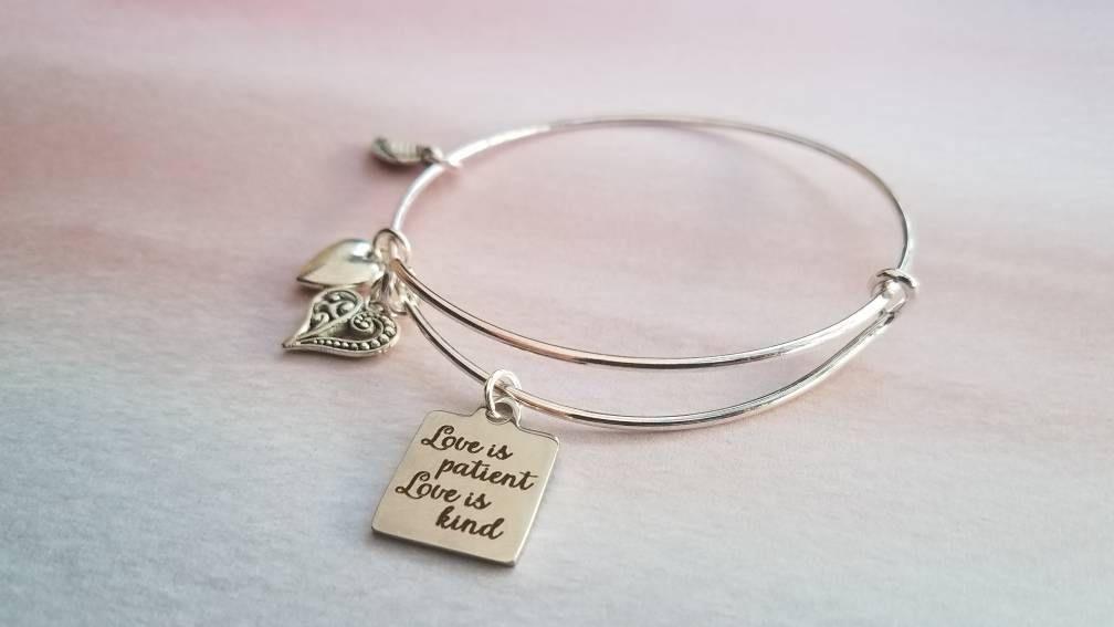 Love is Patient Bracelet - Aug Birthstone