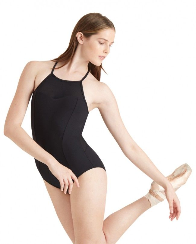 21511e57d153 Buy Capezio Sheer Insert Halter Leotard and more Leotards at the ...