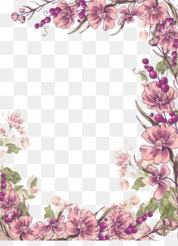 Pin By Pngsector On Png Image Of Flower In 2019 Flower Border Clipart Free Watercolor Flowers