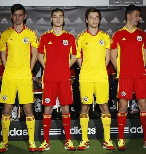 Romania adidas 2012/13 Home and Away Kits