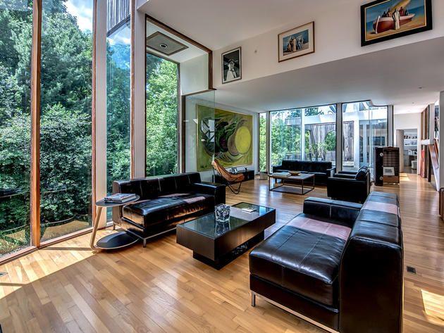 Living Room Seating Clear Glass House In Washington D C Room Livingroom