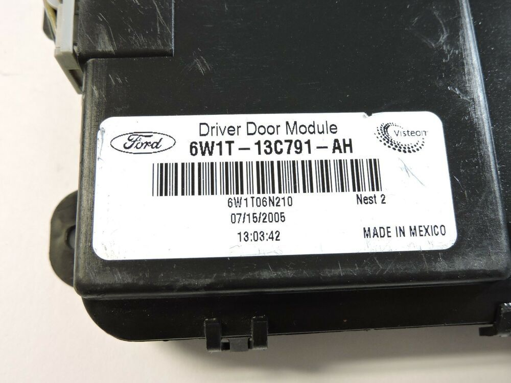Details About 06 08 Lincoln Town Car Driver Door Theft Locking Control Module 6w1t 13c791 Bb 2 Lincoln Town Car Grand Marquis