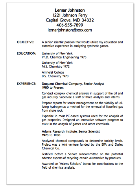 example of senior scientist resume http exampleresumecv org