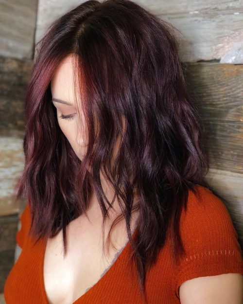 Top 30 Burgundy Hair Color Shades of 2020 | Wine hair ...