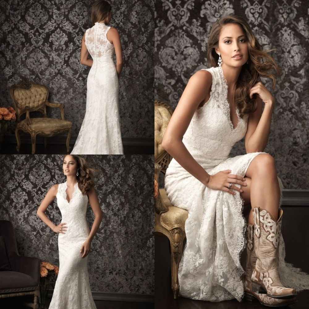 Western Style Wedding Dresses With Cowboy Boots Western Style