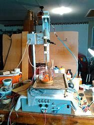 EDM Machine by scorch -- Homemade plunge EDM (electric discharge
