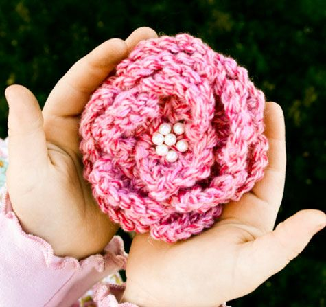 Pepperberry Knits Flower Pattern 4 From Idaho Perfect For The
