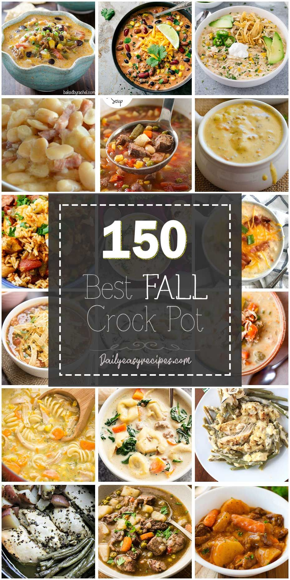 150 Best Fall Crockpot Recipes #crockpotmeals