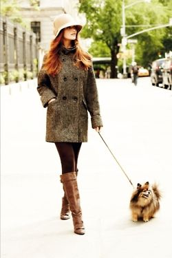 Love this outfit! and the dog...