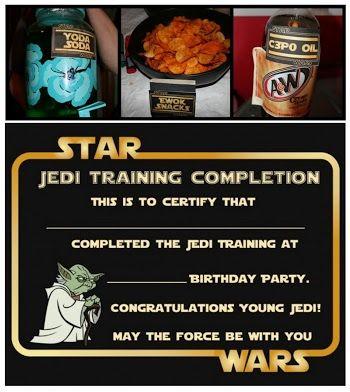 Fiesta de Star Wars: Etiquetas para Comida y Certificados para ...