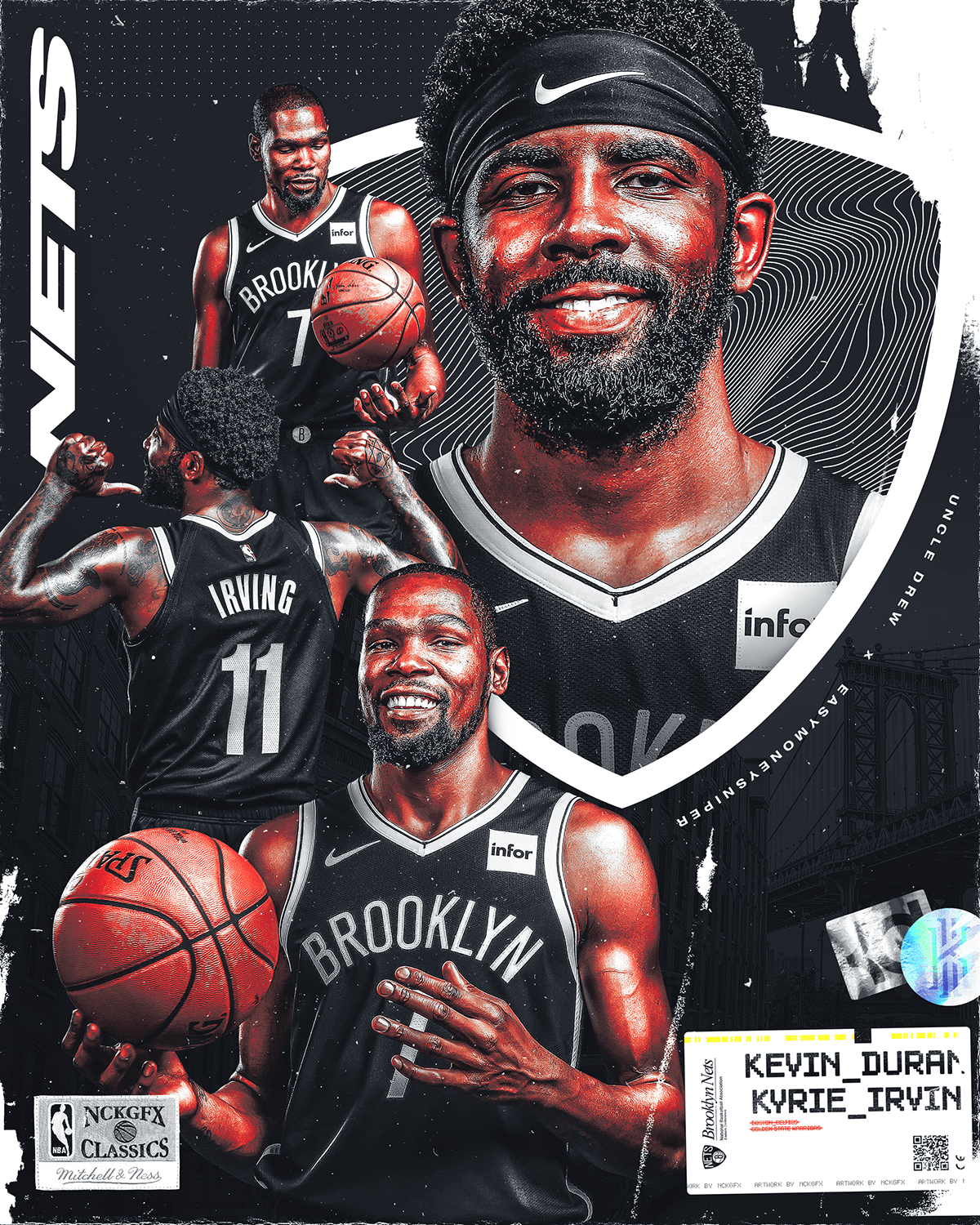 Kd And Kyrie Wallpaper : kyrie, wallpaper, Kevin, Durant, Kyrie, Irving, Arley, Brooklyn, Nets,, Wallpapers
