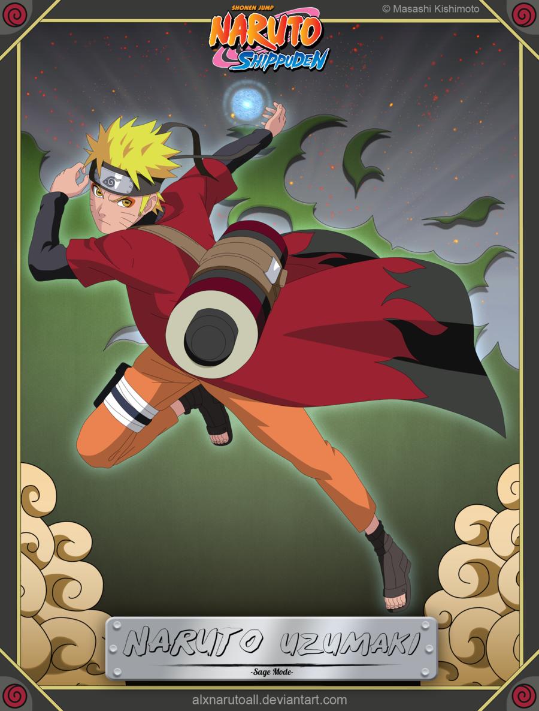 Naruto Uzumaki -Sage Mode- by alxnarutoall.deviantart.com on @deviantART