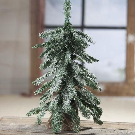 Artificial Frosted Down Swept Christmas Tree Olde Tyme Country