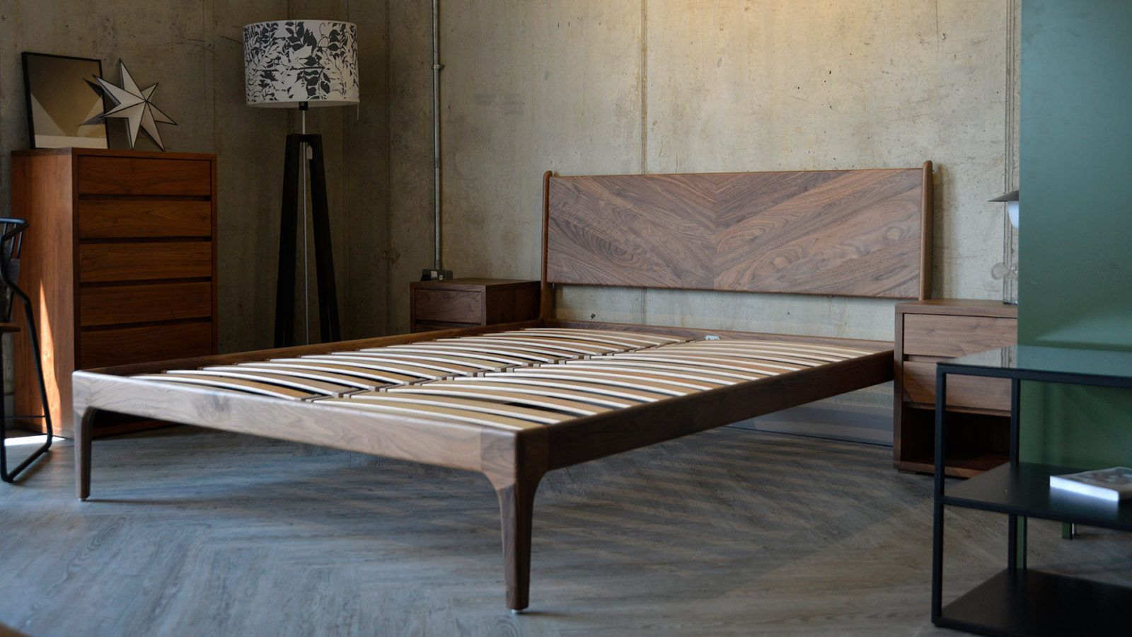 walnuthoxtonwithoutmattress in 2019 Bed, Wood beds