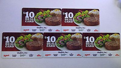 $200 Hometown Buffet Ryan's Country Fire Mountain Gift Card