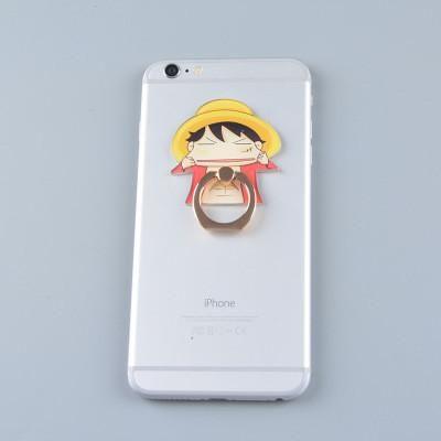 Studio Ghibli TOTORO Kaonashi Luffy Figure Metal Finger Ring Mobile Phone Smartphone Stand holder for iphone
