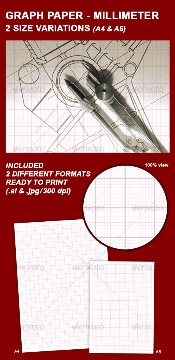 GRAPH PAPER u2013 MILLIMETER #GraphicRiver Very easily you can print - graph paper template print