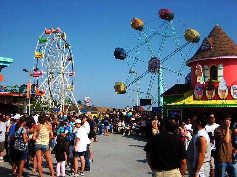 Santa Cruz Beach Boardwalk\'s Rock-o-Plane ride. Similar to a Ferris ...