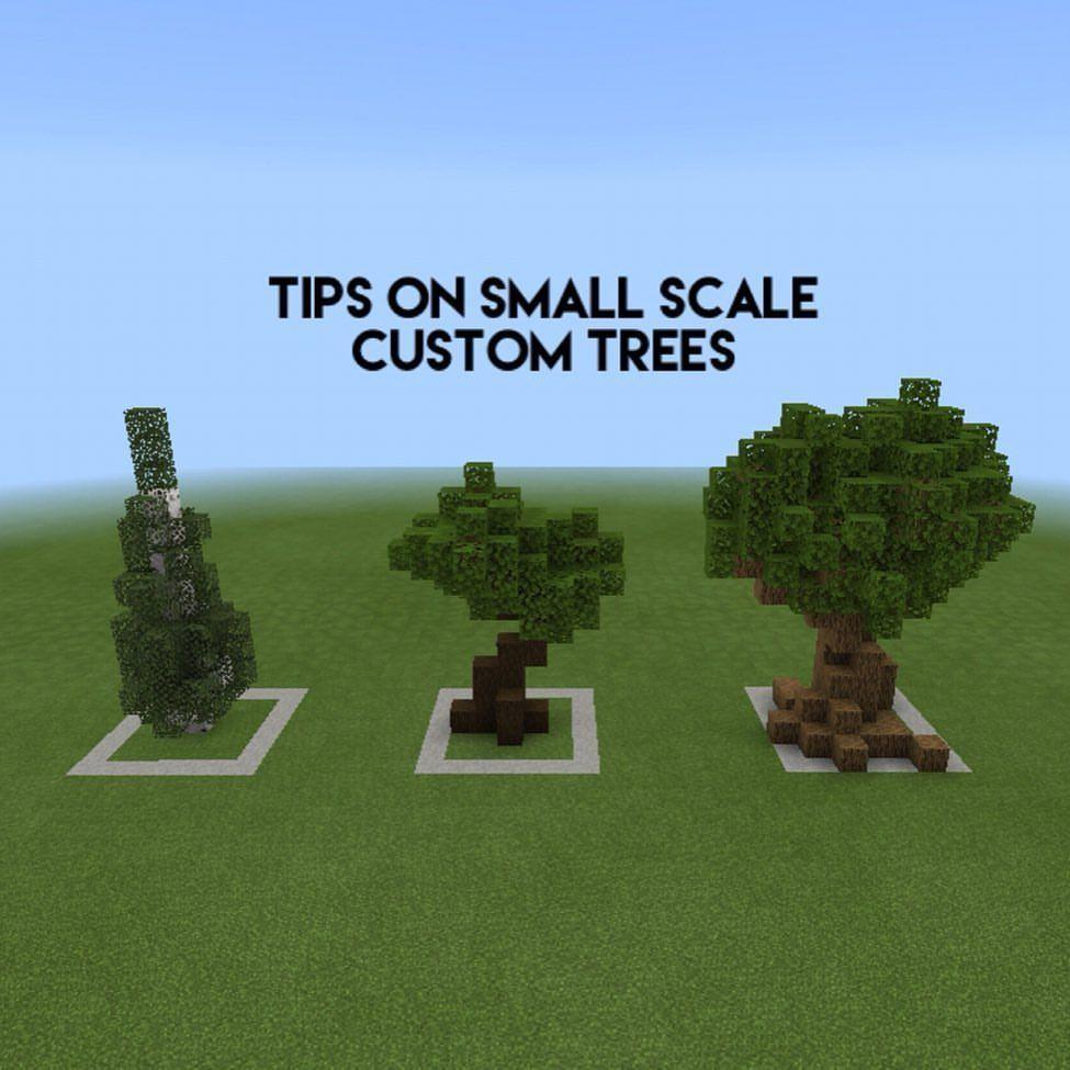 ᴅɪᴀᴍᴏɴᴅ ʙᴜɪʟᴅɪɴɢs On Instagram Tips On Small Scale Custom Trees Showcased A Few Small Custom Minecraft Blueprints Minecraft Projects Minecraft Structures