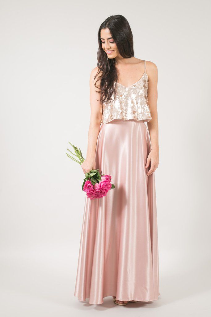 cce4687f7ac ... blush maxi skirt, womens maxi skirt, sequin crop top, bridesmaid  outfit, bridesmaid dress, valentine's date night outfit inspiration, shop Skylar  Belle