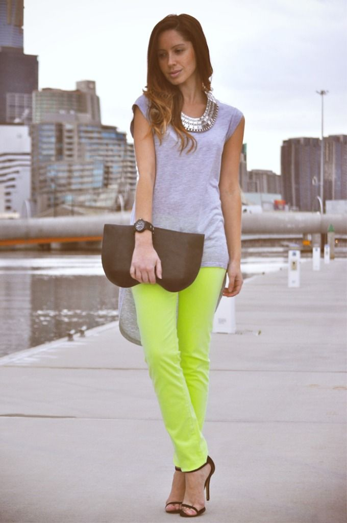 Neon street style on Friend in Fashion