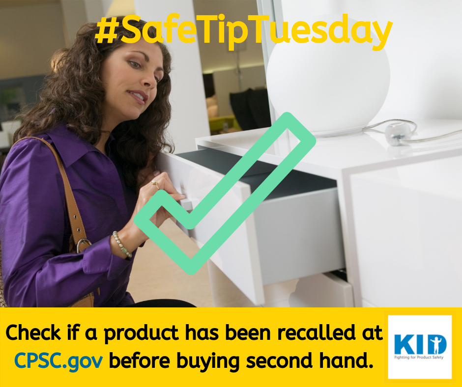 Check out KID's buy/sell safety checklist and for recalls