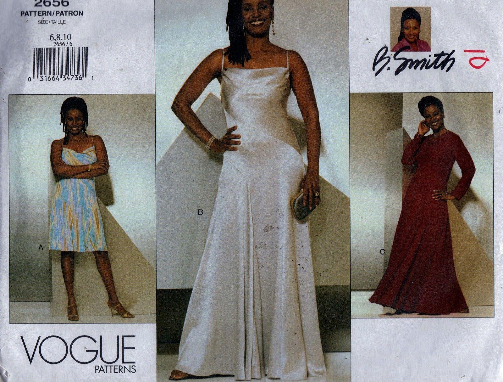 Vogue Sewing Pattern 2656 B. Smith Spaghetti Strap Evening Dress ...