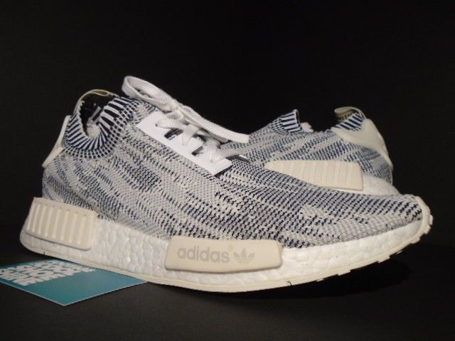 3d6e50fd0f6fd ADIDAS NMD R1 PK PRIMEKNIT CAMO PACK GLITCH GREY WHITE BLACK CREAM BA8600  10.5  fashion