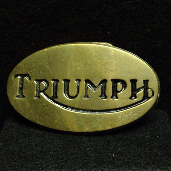 Image Result For Vintage Triumph Trophy Belt Buckle Triumph Logo Brass Belt Buckles Triumph