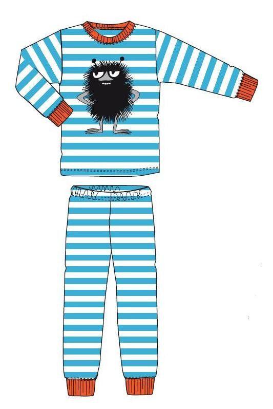 Moomin STINKY aqua - white stripes pyjamas | Moomin clothes