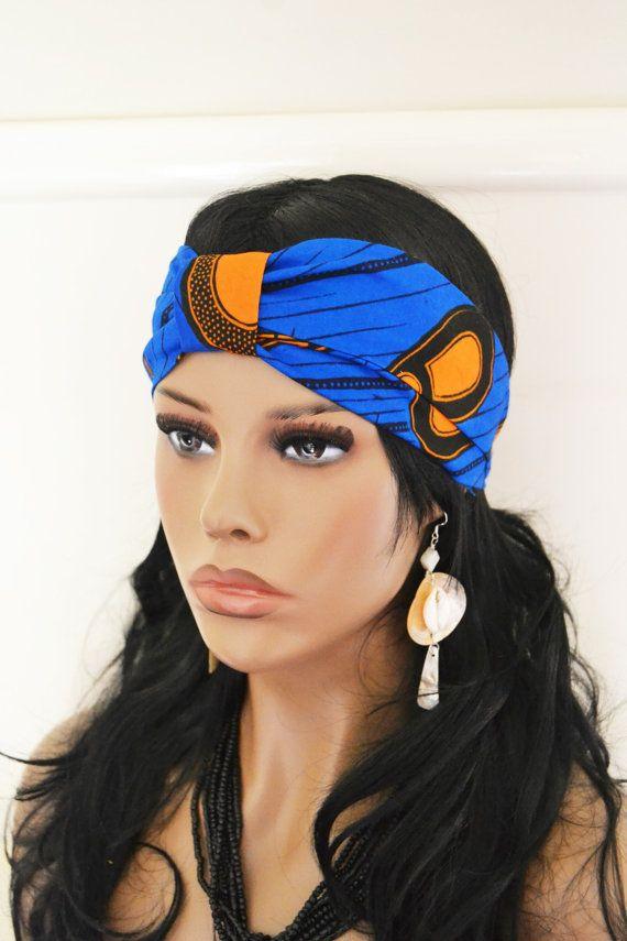 African Print Headband  Ankara Headband  Peacock Print  African Turban    African Bow  Fabric Headband   Vlisco Headband  Amaka  c5535e99119