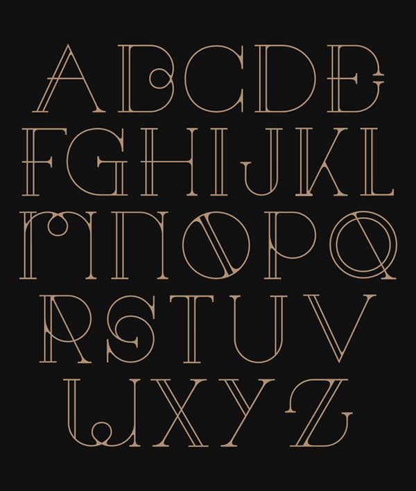 Decorative Typography Inspired by the Art Deco Movement