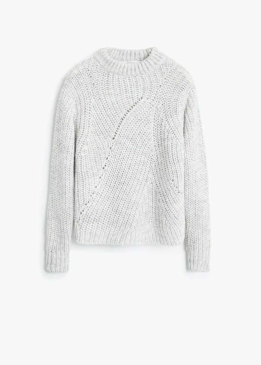 Jersey lana cuello -  Mujer | MANGO