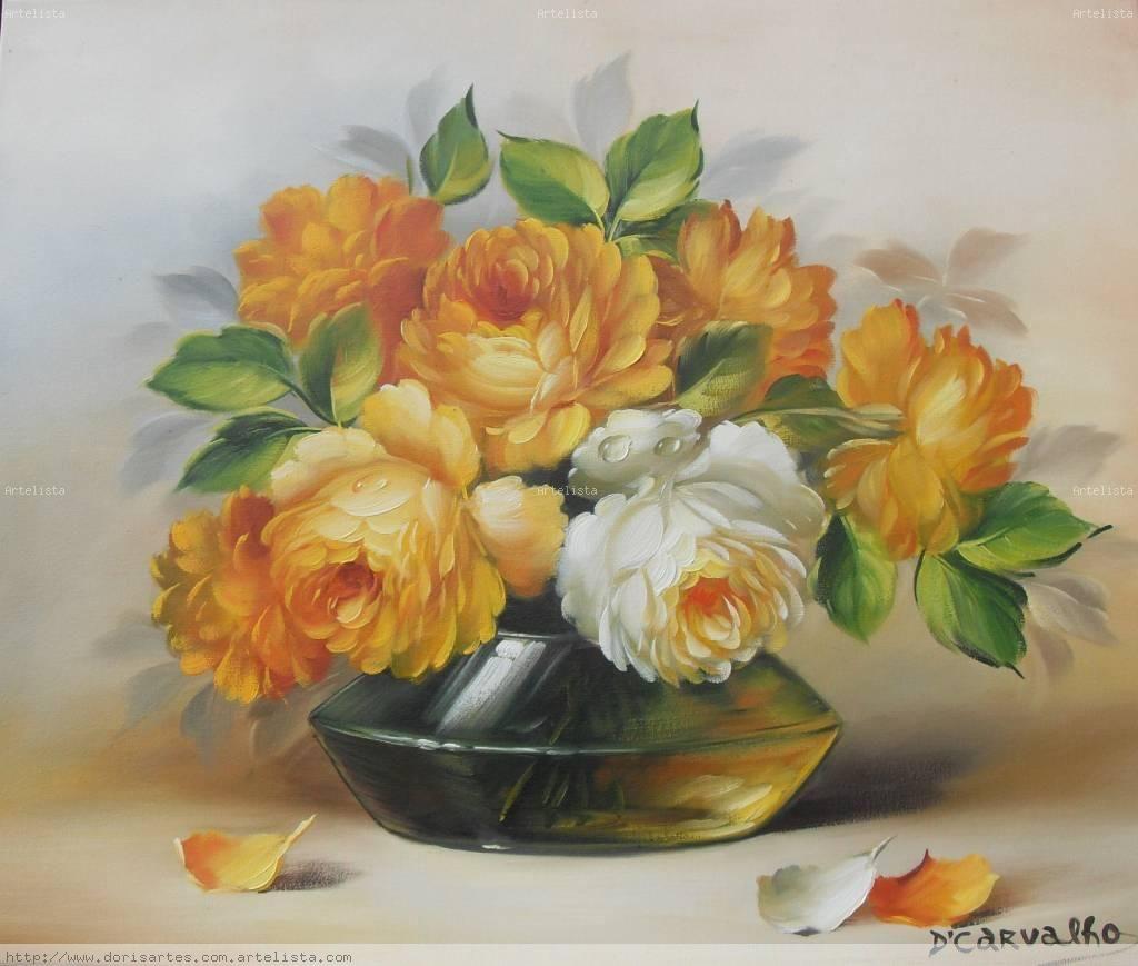 Pinturas de rosas pesquisa google rosas pinterest - Clases de flores amarillas ...