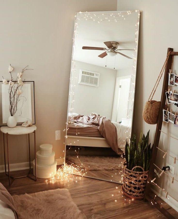 bedroom mirror corner idea warm and cozy (With images ...