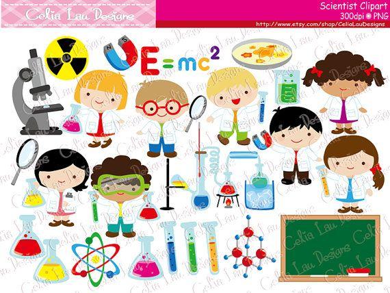 Cute Scientist Digital Clipart Mad Clip Art Kids Science