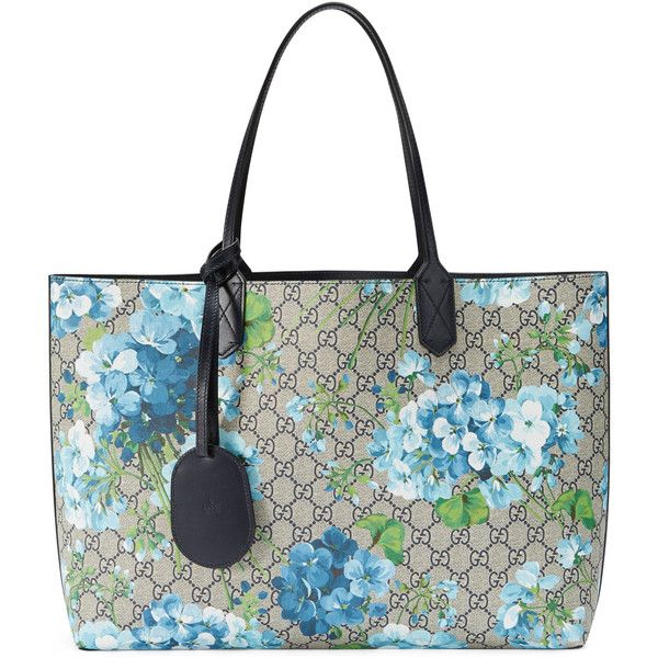 54d1376810a Gucci Reversible Gg Blooms Leather Tote ( 1