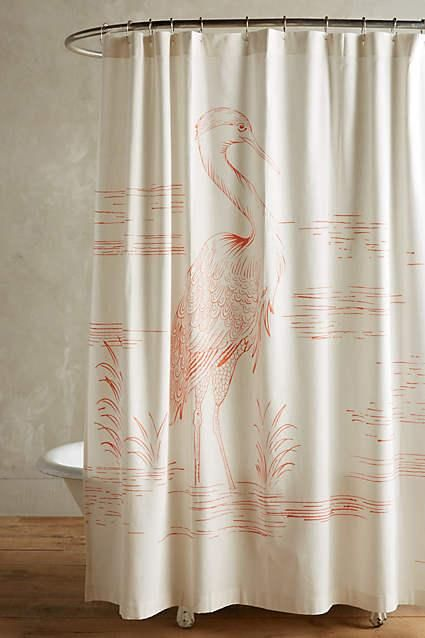 Heron Coral Shower Curtain