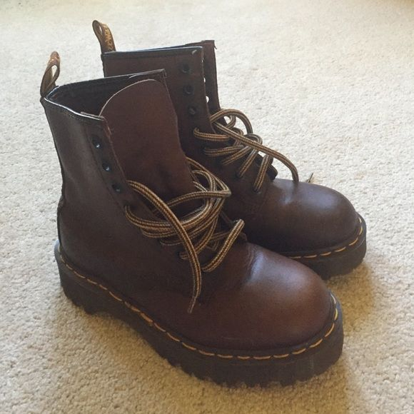 4a8b71527e9 Vintage brown Dr. Martens. Made in England. Original made in England ...