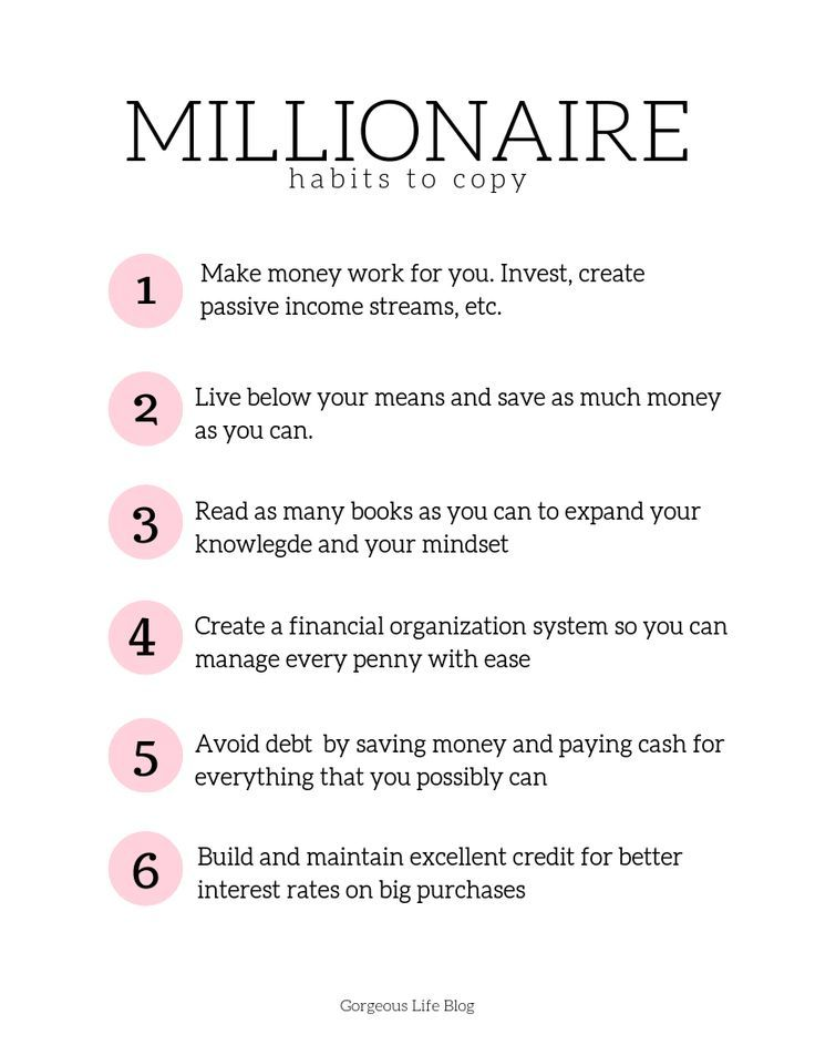 Millionaire Habits we all need to copy