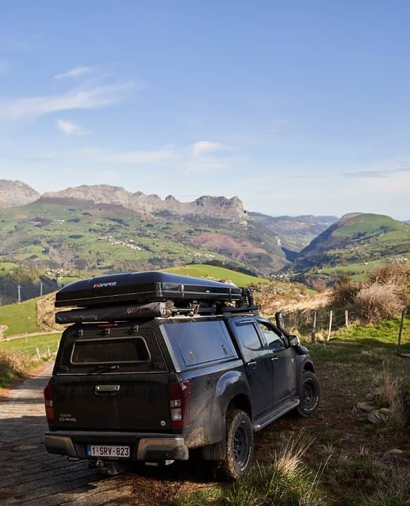 Overlanding Through The Northern Spain Couldn T Be Done Better Than With An Rsi Smartcanopy And The Ikamper Roof Top Tent Fuel Wheels Van Life Roof Top Tent