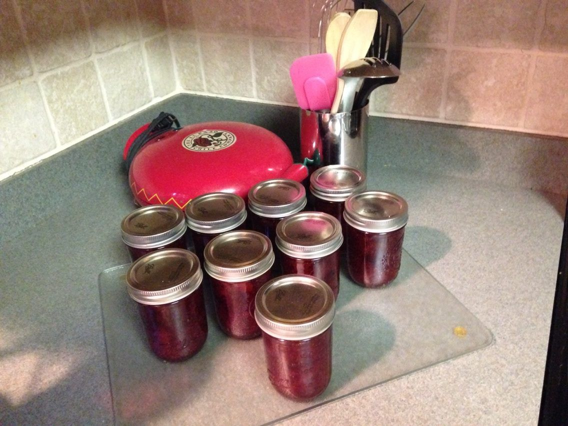 Strawberry jam homemade from VT fresh picked berries.