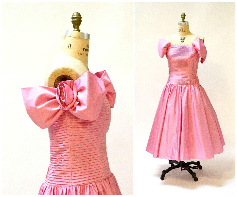 80s Prom Dress Pink Size Medium Large 80s Vintage Party Etsy Pink Prom Dresses 80s Prom Dress Vintage Party Dresses [ 1018 x 1227 Pixel ]