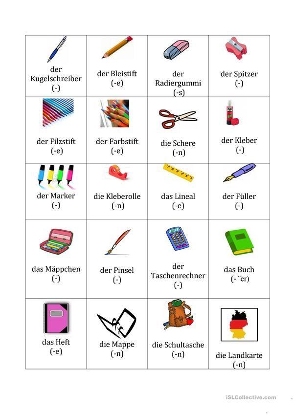 SCHULSACHEN | TEXTE AUF DEUTSCH | Pinterest | Schulsachen ...